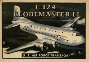 C-124 Globemaster II from the Topps Wings Friend or Foe Trading Card Series