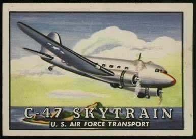 C-47 Skytrain from the Topps Wings Friend or Foe Trading Card Series