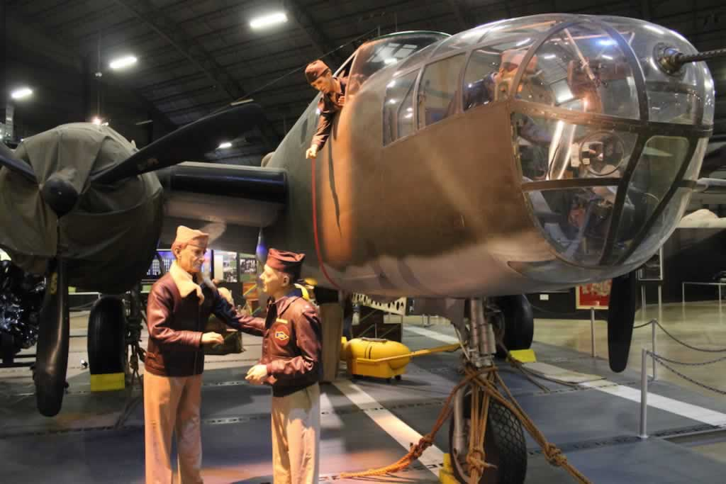 RB-25D Mitchell S/N 43-3374, rebuilt as a B-25B, at the Museum of the U.S. Air Force