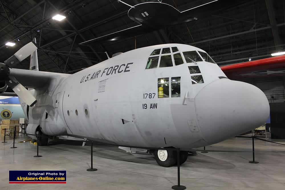 C-130E Hercules, S/N 621787, on display at the Museum of the United States Air Force, Dayton, Ohio
