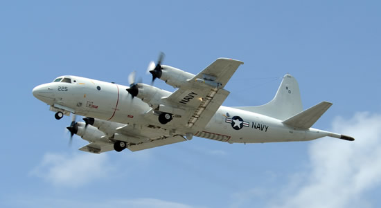 U.S. Navy P-3 Orion in flight