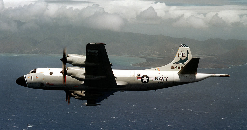 U.S. Navy P-3B Orion in flight