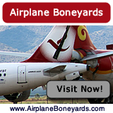Active airliner boneyards of today and military airplane boneyards after World War II ... maps, photographs, tours and more ... visit there now!