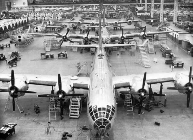 Inside the Boeing Wichita Kansas Plant, B-29 assembly line